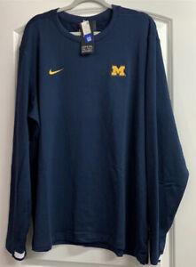 Nike Michigan Wolverines On-Field Long Sleeve Shirt CQ5053-419 Size XXL