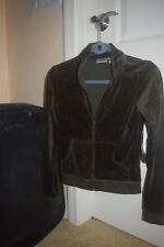 woman  jacket velour / french terry olive green by Energie Small new with tags