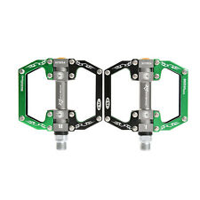 ROCKBROS Bike Bicycle Pedals Cycling Sealed Bearing Pedals Black Green