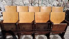 Lotto 4  sedie da cinema Anno 1953 seduta reclinabile sala d'aspetto ufficio