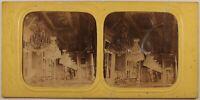 Francia Parigi Palais Dei Tilery Sala Foto Stereo Albumina Diorama c1865