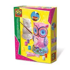 SES Creative 01285 Bastel-Set Kreativ-Packung Gips EULE gießen und malen