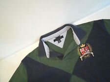 Tommy Hilfiger Mens Rugby Shirt Size XL Green S/S Polo Top w/ Embroidered Emblem