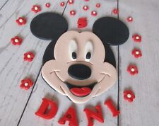 Mickey Mouse cake topper. Edible Mickey Mouse fondant cake topper personalised.