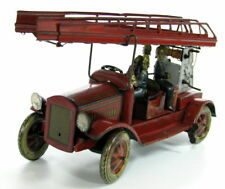 VERY RARE 1930'S TIN TIPPCO TIPP&CO FIRE ENGINE TRUCK GERMANY WIND UP LADDER >>