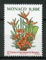 Monaco 2019 MNH International Bouquet Competition 1v Set Flowers Plants Stamps