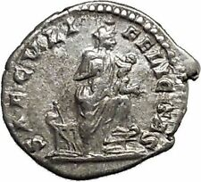 JULIA DOMNA 201AD Authentic Ancient Silver Roman Coin Isis Cult i39515