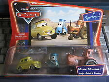 DISNEY PIXAR CARS LUIGI GUIDO & TRACTOR MOVIE MOMENTS SUPERCHARGED