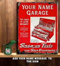 PERSONALISED SNAP ON TOOLS WORKSHOP GARAGE SHED DAD Vintage Metal Sign RT01