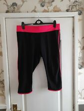 Ladies Stretchy Lycra Cropped Gym Pants, Size XL (20), GEORGE.
