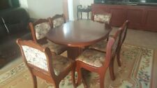 Wood & Fabric Extending Dining Furniture Sets