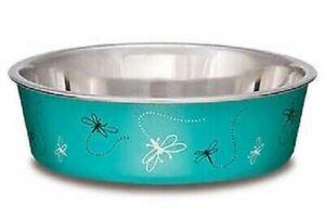 Loving Pets BELLA BOWL Stainless Steel Dog Feeder Bowl DRAGONFLY