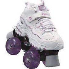 size 1 youth SKECHERS 4 WHEELER ROLLER SKATES skate quad derby girls childrens