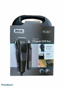 Wahl GroomEase Hair Clipper & Nose/Ear Trimmer 18-Piece Shaver Bundle  BLACK NEW
