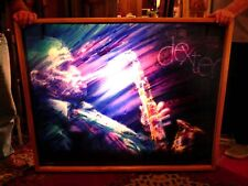 FABULOUS 3 DIMENSIONAL LIGHTED PAINTING OF JAZZ GREAT DEXTER GORDON