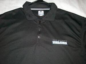 San Antonio TALONS AFL Arena Football Black Russell Golf Polo Shirt Mens XL used