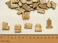 Wooden MDF Shapes Building Craft Scrapbook Kids Gift Card Making