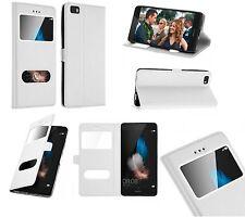 Housse Etui Coque Pochette Protection Blanc White Case pour Huawei P9 Lite