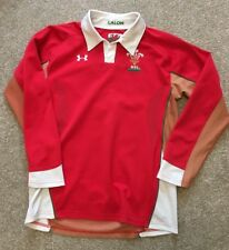 WELSH WRU RUGBY UNION UNDER ARMOUR LS RUGBY SHIRT BOYS L LARGE (SUIT WMN 12)