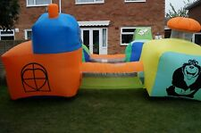 Inflatable Tunnels With inflating Fan Childrens Outdoor garden toy Activity Used