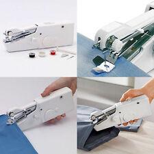 White Hand Held Sewing Machine Portable Stitch Sew Quick Handy Cordless Repairs