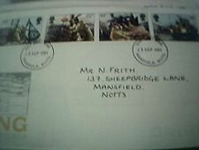 Fdc first day cover - uk fishing september 23rd 1981 mansfield frank