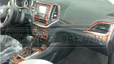 2018 JEEP COMPASS LATITUDE SPORT 2WD 4WD INTERIOR BURL WOOD DASH TRIM KIT SET