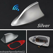 1x Silver Shark Fin Style Car SUV Roof Special Radio AM/FM Signal Aerial Antenna