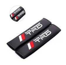 TRD Carbon Fiber Car Seat Belt Pair Cushion Cover Shoulder Pads Fit For All Car