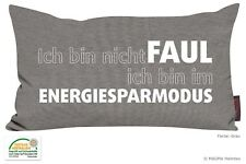 Sprüchekissen Dekokissen Spruch Geschenk Ich bin nicht faul Energiesparmodus
