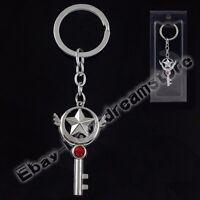 CARDCAPTOR SAKURA KINOMOTOSAKURA Magic Wand 11cm Metal Key Ring Chain New In Box