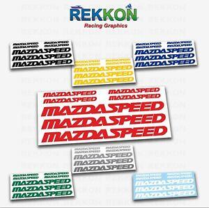 MAZDA SPEED 3 5 6 CX7 RX8 RX7 MazdaSpeed Vinyl Stickers Decals Emblems Die Cut