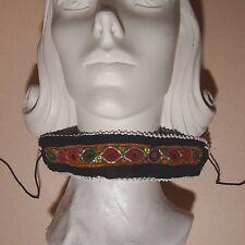 Belly Dance Bellydance Kuchi Tribal Embroidered CHOKER 798k4