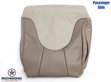 1999 2000 GMC Yukon Denali -Passenger Lean Back Leather Seat Cover 2-Tone TAN
