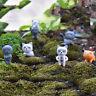 Unhappy Angry Cat Figure Decor Miniature Figurine Mini Fairy Garden Resin SP