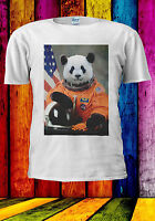 Astronaut Funny Panda Suit In Space T-shirt Vest Tank Top Men Women Unisex 534