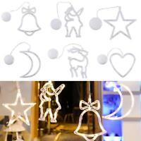 Christmas LED Certain Light Window Hanging Decor Xmas Tree Party String Lights