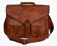 Handmade Vintage Brown Leather Messenger Laptop Bag Briefcase Satchel Sling Bag