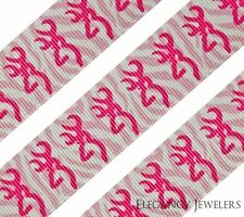 "High Quality 7/8"" Pink Browning Zebra Design Hair Bow Printed Grosgrain Ribbon"