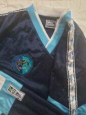 RARE VTG TAMPA BAY MUTINY Pro Player Blue V-Neck Jersey Shirt Men's L Soccer MLS