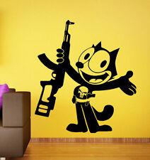 Felix Cat Punisher Wall Decal Comics Hero Vinyl Sticker Art Home Mural Decor 8