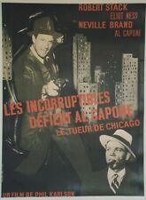 LES INCORRUPTIBLES DEFIENT AL CAPONE (SCARFACE MOB) Affiche entoil Robert STACK