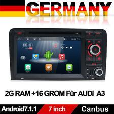 "7"" Android 7.1 Autoradio DVD GPS Navi für AUDI A3 S3 RS3 8P 8V 8PA DAB+ 2GB RAM"