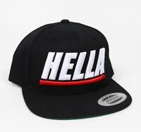 8d1c0162bf0 Gorra Hella Snap Back Trucker Hat Mesh Visera Plana Black Adjustable Size