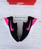 SIZE 15 MEN'S Nike Epic React Flyknit 2 Black Pink BQ8928 013 Running casual