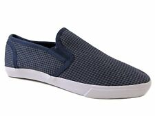 American Rag Men's Cyrus Low Top Slip-on Loafers Gray Navy Canvas Size 7 M