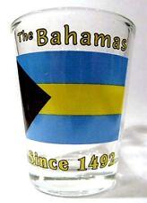 BAHAMAS FLAG SHOT GLASS SHOTGLASS