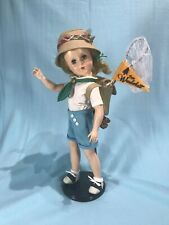 Ooak Vintage Hard Plastic Doll - Camping Theme - Strung Composition Type