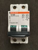 New Schneider SQUARE D 17446 C60 Miniature Circuit Breaker 2P 15A 480 / 277 VAC