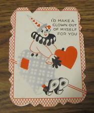 """Circus Clown Valentine Valentine's Day """"I'd Make A Clown Out Of Myself For You"""""""